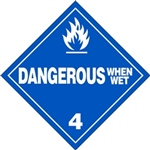 Dangerous When Wet DOT HazMat Label