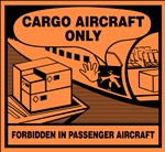 Cargo Aircraft Only Air Transport DOT HazMat Label