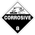 Corrosive 8 DOT HazMat Label