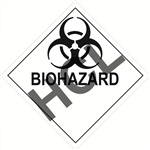 Biohazard  DOT HazMat Placard