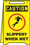 Caution Sign - Slippery When Wet (Floor Sign)