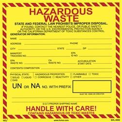 Personalized Hazardous Waste Label