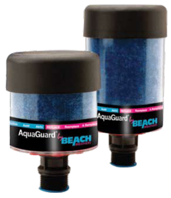 "Model BB-AG-1V  AquaGuard Hybrid Disposable 2.5"" x 5.3"" AquaGuard Desiccant Breather (w/check valves) for Gearbox Applications-3/8"" NPT - (Case of 6)"