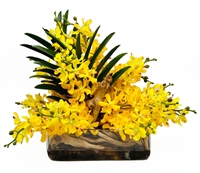 Yellow Orchid Arrangement (AVAILABLE)