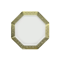 "White and Gold 7.25"" Plate (10pcs)"