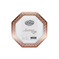 "White and Rose Gold 7.25"" Plate (10pcs)"