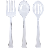 Clear Serving Utensils (3pc set)