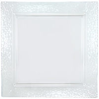 "Clear 12"" Square Serving Trays (2pcs)"