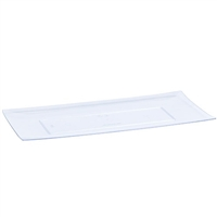 Clear Rectangular Condiment Tray (3pcs)