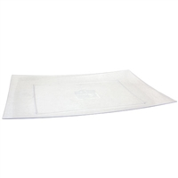 "Clear 12"" x 18"" Rectangular Platter (2pcs)"