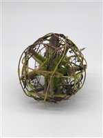 Wood Ball with Moss