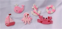 Pink Nautical Flat Set