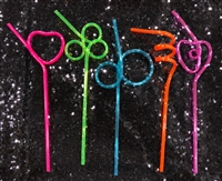 Neon Silly Straws