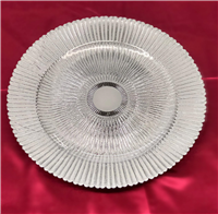 White Glass Charger Plate
