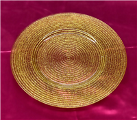 Glitter Glass Charger Plate