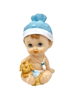 Baby Figurine with Pet