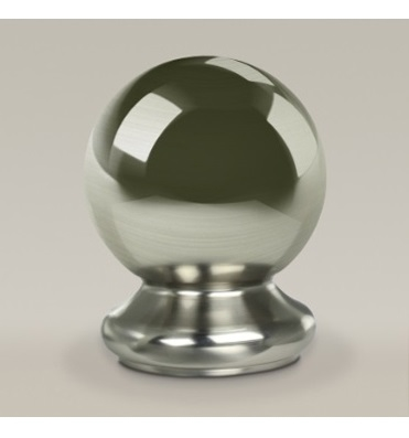 Brushed Ball Newel Cap 90mm