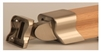 LHR Brushed Nickel Handrail Connector