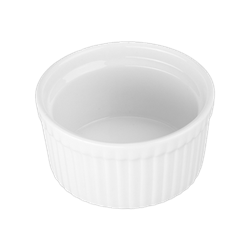 Ramekin, 3oz Fluted - White, 900002 by BIA Cordon Bleu.