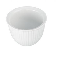 Custard Cup, 7oz Fluted - White, 900010 by BIA Cordon Bleu.