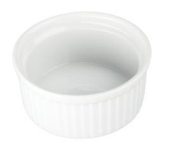 Ramekin, 4 1/2oz Fluted - White, 900012 by BIA Cordon Bleu.