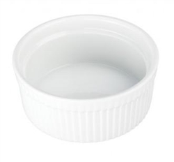 Souffle', Individual 10oz Fluted - White, 900013 by BIA Cordon Bleu.