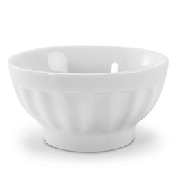 Bowl, Serving 16 oz Ceramic Fluted - White, 900107 by BIA Cordon Bleu.