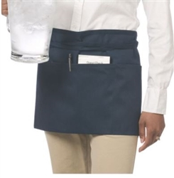 Chef Revival Waist Apron, Black, 3 Pockets - 605WAFH-BK
