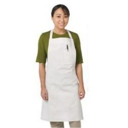 Economy Bib Apron, 100% Cotton - White, 610BAC by Chef Revival.