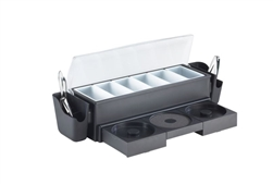 Browne Foodservice All-In-1 Bar Station 6-Pnt Rim - 574875