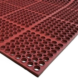 "Floor Mat, VIP-Lite Grease Proof, Anti-fatigue And Anti-slip, 39"" x 58 1/2"" x 1/2"" - Red, 2521-R1S by Cac"