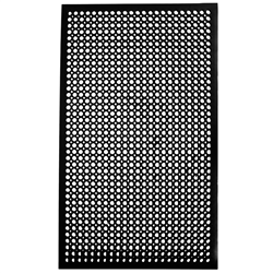 "Floor Mat, VIP-Topdek Junior With Molded Bevel Edge, 36"" x 60"" x 1/2"" - Black, 2530-C5 by Cactus Mat."