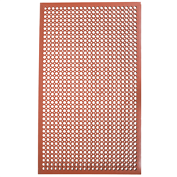 "Floor Mat, VIP-Topdek Junior With Molded Bevel Edge, 36"" x 60"" x 1/2"" - Red, CACT2530-R5 by Cactus Mat."
