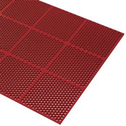 "Floor Mat, Honeycomb, Med. Duty Anti-Fatigue, Grease Resistant 36"" x 72"" x 9/16"" - Red, 2535-R36 by Cactu"