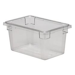 "Food Storage Box, Poly-Clear 12"" x 18"" x 9"", 12189CW-135 by Cambro."