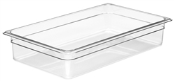 "Cold Food Pan, Plastic - Full Size 4"" Deep - Clear, 14CW-135 by Cambro."
