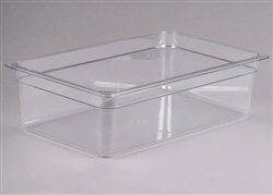 "Cold Food Pan, Plastic - Full Size 6"" Deep - Clear , 16CW-135 by Cambro."