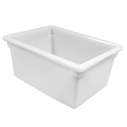 "Food Storage Box, Poly-White 18"" x 26"" x 12"" - 182612P148 by Cambro."