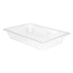 "Food Box Colander, Clear 18"" x 26"" x 6"" - 1826CLRCW135 by Cambro."