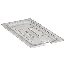Food Pan Cover, Third Size Notched With Handle - Clear, 30CWCHN135 by Cambro.