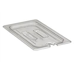 Food Pan Cover, Fourth Size Notched With Handle - Clear, 40CWCHN135 by Cambro.