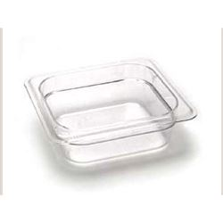 "Cold Food Pan, Plastic - Sixth Size 2 1/2"" Deep - Clear, 62CW135 by Cambro."