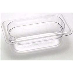 "Cold Food Pan, Plastic - Ninth Size 2 1/2"" Deep - Clear, 92CW135 by Cambro."