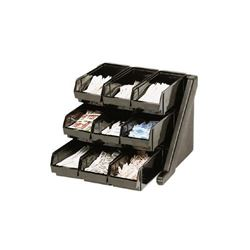 Organizer Rack, 9 Bins, Black, 9RS9110 by Cambro.