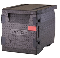 Food Pan GoBox, Insulated Transport Black- EPP300110 by Cambro.