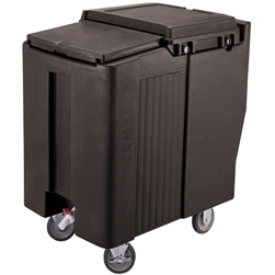 Ice Caddy, Portable Tall 125 lb Capacity - Black, ICS125T110 by Cambro.