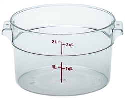 Food Container, 2qt Round - Clear, RFSCW2-135 by Cambro.