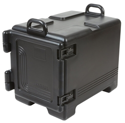 Food Pan Camcarrier®, Front Loading, Insulated, Non Heated - Black, UPC300110 by Cambro.