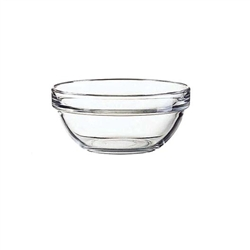 "Bowl, Glass ""Arcoroc"" 3 1/2"" Diameter, Stackable, E9157 by Cardinal."