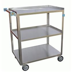 Bus Cart, Medium Duty 3 Stainless Shelves 350 lb Capacity, C-3222 by California Cooking.